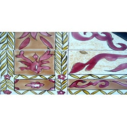 Architectural 'Persepolis Design' 40-tile Ceramic Wall Art