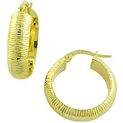Fremada 10k Yellow Gold Hoop Earrings