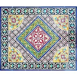 Architectural 'Bushehr Design' 30-tile Ceramic Wall Art