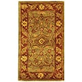 Safavieh Handmade Golden Jaipur Green/ Rust Wool Runner (2'3 x 4')