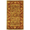 Safavieh Handmade Golden Jaipur Green/ Rust Wool Runner (2'3 x 4')