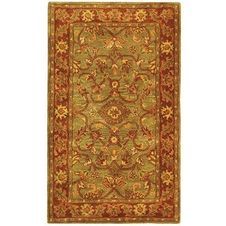 Safavieh Handmade Golden Jaipur Green/ Rust Wool Rug (3' x 5')