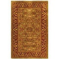 Safavieh Handmade Golden Jaipur Green/ Rust Wool Rug (4' x 6')