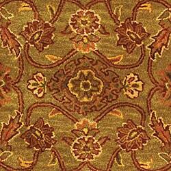 Safavieh Handmade Golden Jaipur Green/ Rust Wool Rug (5' x 8')