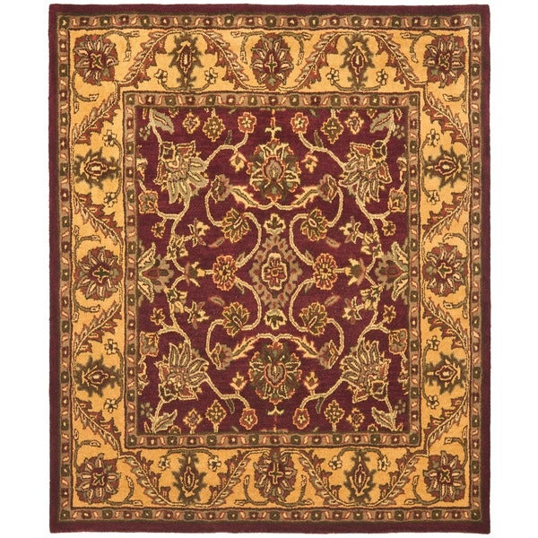 Safavieh Handmade Golden Jaipur Burgundy/ Gold Wool Rug (3' x 5')