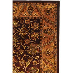 Safavieh Handmade Golden Jaipur Burgundy/ Gold Wool Rug (4' x 6')