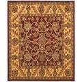 Safavieh Handmade Golden Jaipur Burgundy/ Gold Wool Rug (6' x 9')