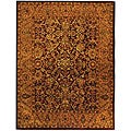 Safavieh Handmade Golden Jaipur Burgundy/ Gold Wool Rug (7'6 x 9'6)