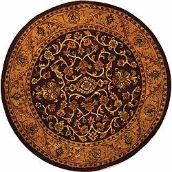 Safavieh Handmade Golden Jaipur Burgundy/ Gold Wool Rug (8' Round)
