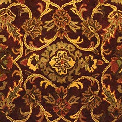 Safavieh Handmade Golden Jaipur Burgundy/ Gold Wool Rug (8'3 x 11')