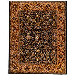 Safavieh Handmade Golden Jaipur Black/ Gold Wool Rug (9'6 x 13'6)