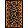 Safavieh Handmade Golden Jaipur Black/ Gold Wool Rug (3' x 5')