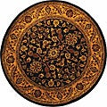 Safavieh Handmade Golden Jaipur Black/ Gold Wool Rug (3'6 Round)