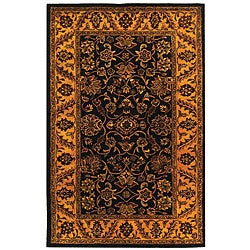 Safavieh Handmade Golden Jaipur Black/ Gold Wool Rug (5' x 8')