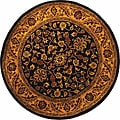 Safavieh Handmade Golden Jaipur Black/ Gold Wool Rug (6' Round)
