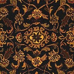 Safavieh Handmade Golden Jaipur Black/ Gold Wool Rug (7'6 x 9'6)