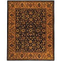 Safavieh Handmade Golden Jaipur Black/ Gold Wool Rug (8'3 x 11')