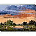 Karen Wilkerson 'Autumn Skies II' Gallery-wrapped Canvas Art