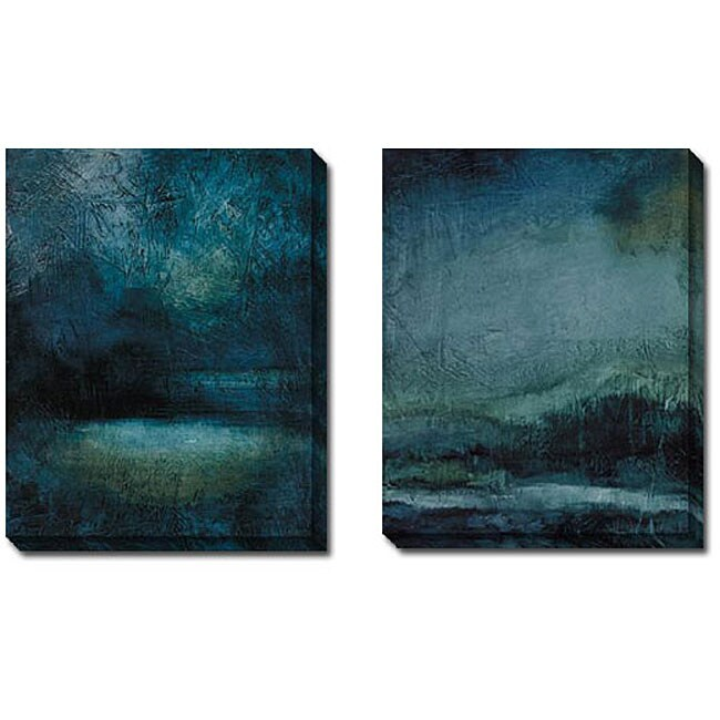 Caroline Ashton 'Serenity III and IV' 2-piece Canvas Art Set