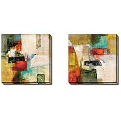 Bailey 'Linear I and II' 2-piece Canvas Art Set
