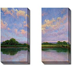 Kim Coulter 'Spring Sunset I and III' 2-piece Canvas Art Set