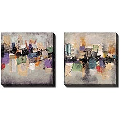 Sean Jacobs 'Good Fortune II and III' 2-piece Canvas Art Set