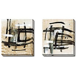 Ross Lindsay 'Delineate I and II' 2-piece Canvas Art Set