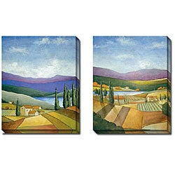 St. John 'Tuscan Valley I and II' 2-piece Canvas Art Set