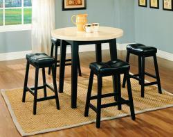 Furniture of America Lorelay 5-piece Faux Marble Pub Set