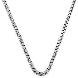 Fremada 14k White Gold 18-inch Box Necklace