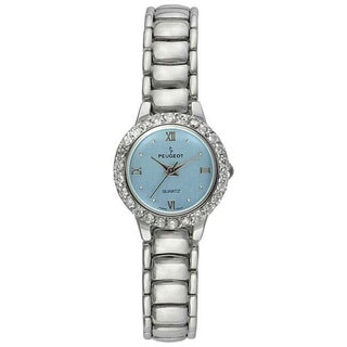 Peugeot Women's Crystal Silvertone Watch