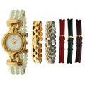 Peugeot Women's Interchangable Goldtone Watch