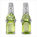 Malaika Sterling Silver Peridot Earrings