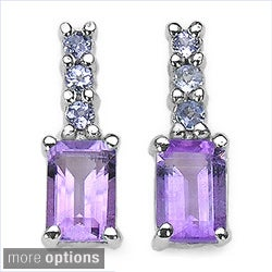 Malaika Sterling Silver Gemstone and Tanzanite Earrings