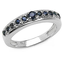 Malaika Sterling Silver Genuine Blue Sapphire Ring
