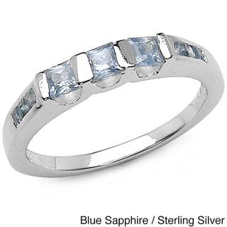 Malaika Sterling Silver Sapphire Ring