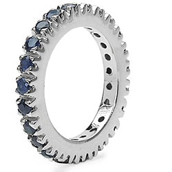 Malaika Sterling Silver Sapphire Eternity Ring