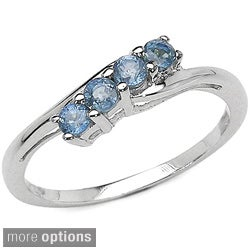 Malaika Sterling Silver 4-stone Gemstone Ring