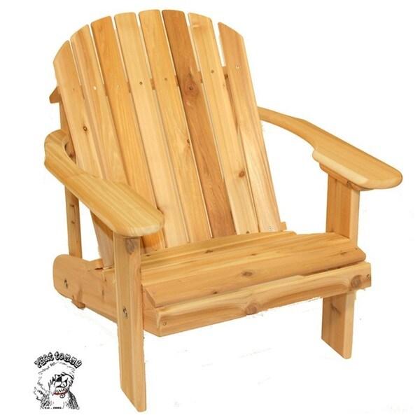PHAT TOMMY Wide Western Red Cedar Adirondack Chair