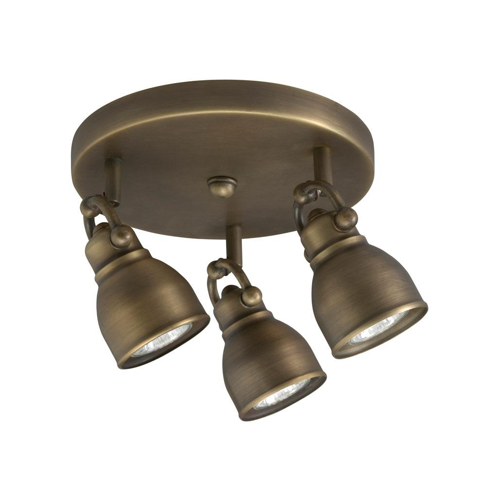 Bronze 3-light Flush Mount Light Fixture