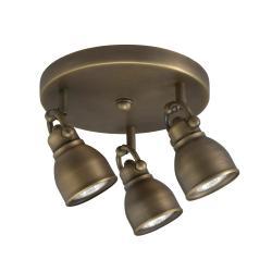 Bronze 3-light Flush Mount Light Fixture