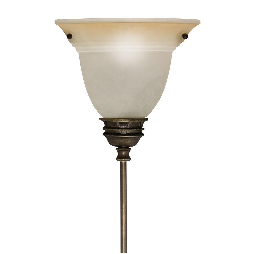 Corner Pin-up Plug-in Light Olde Bronze Lamp