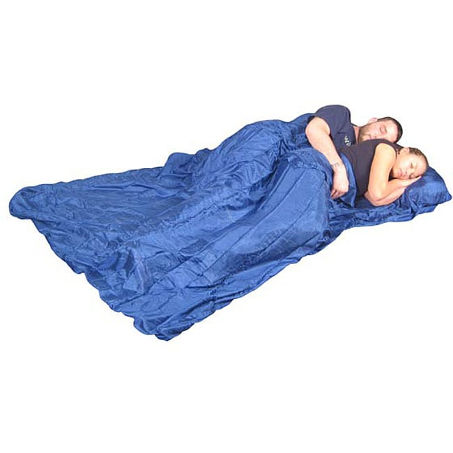 Grand Trunk Blue Silk Double Sleep Sack