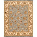 Handmade Heritage Kerman Blue/ Beige Wool Rug (8'3 x 11')