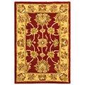 Safavieh Handmade Heritage Kerman Red/ Gold Wool Rug (2' x 3')