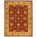 Handmade Heritage Kerman Red/ Gold Wool Rug (6' x 9')