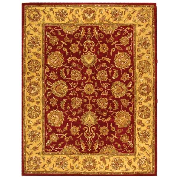 Safavieh Handmade Heritage Kerman Red/ Gold Wool Rug (6' x 9')