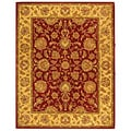 Handmade Heritage Kerman Red/ Gold Wool Rug (7'6 x 9'6)