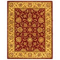 Handmade Heritage Kerman Red/ Gold Wool Rug (8'3 x 11')