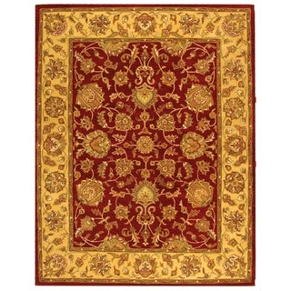 Handmade Heritage Kerman Red/ Gold Wool Rug (9'6 x 13'6)